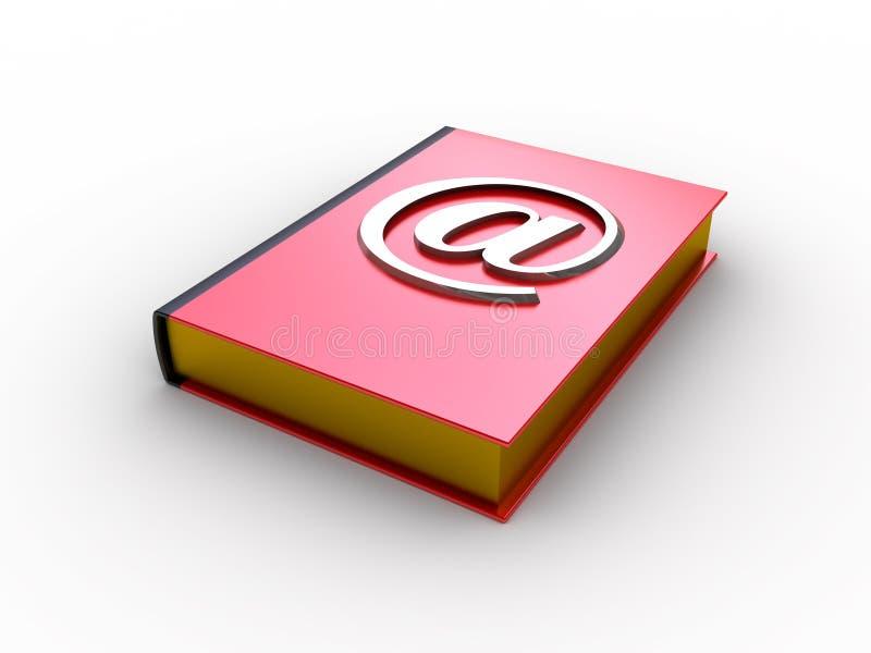Livro do email ilustração do vetor