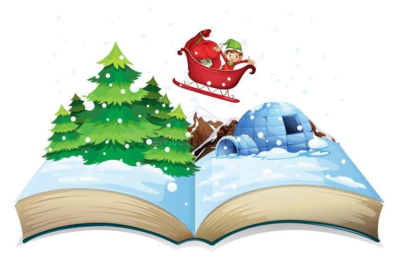 Livro do inverno ilustração royalty free