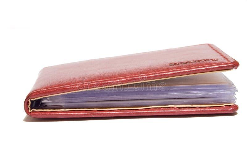 Livro do negócio isolado no fundo branco imagem de stock royalty free