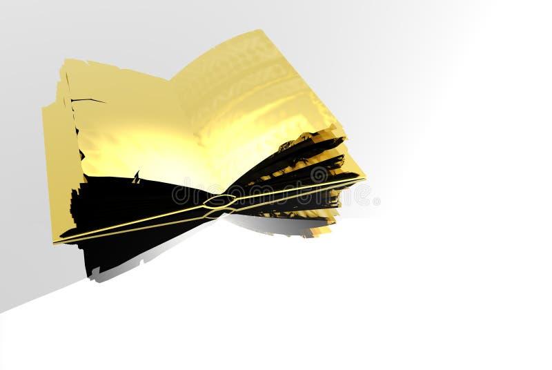 Livro do ouro ilustração royalty free