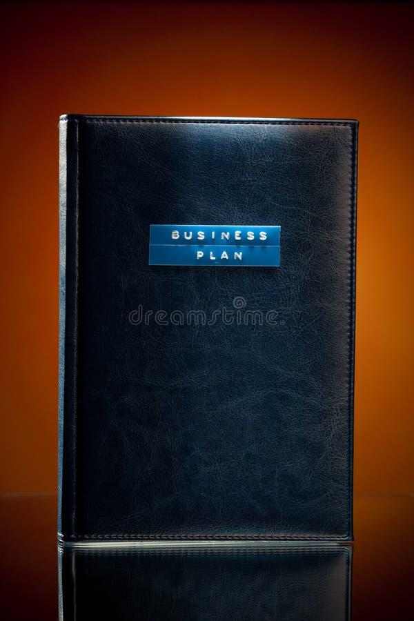 Livro do plano empresarial foto de stock royalty free