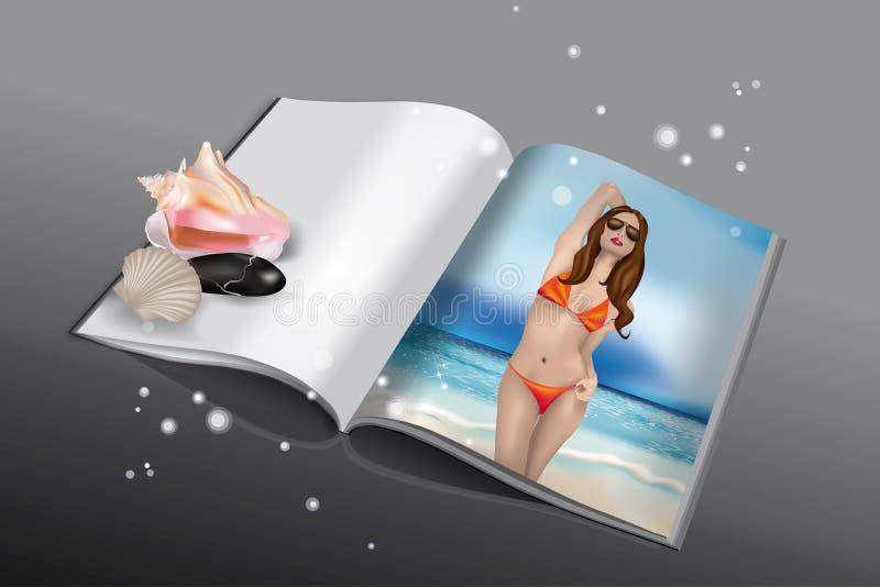 Livro do verão ilustração do vetor