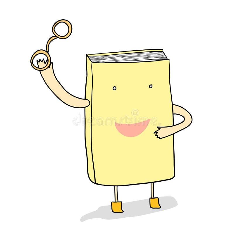Livro dos desenhos animados ilustração stock