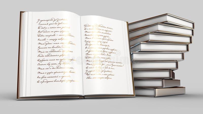 Livro dos poemas ilustração royalty free