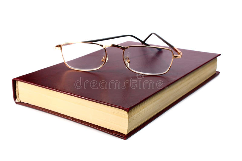 Download Livro e vidros foto de stock. Imagem de visão, enciclopédia - 16851308