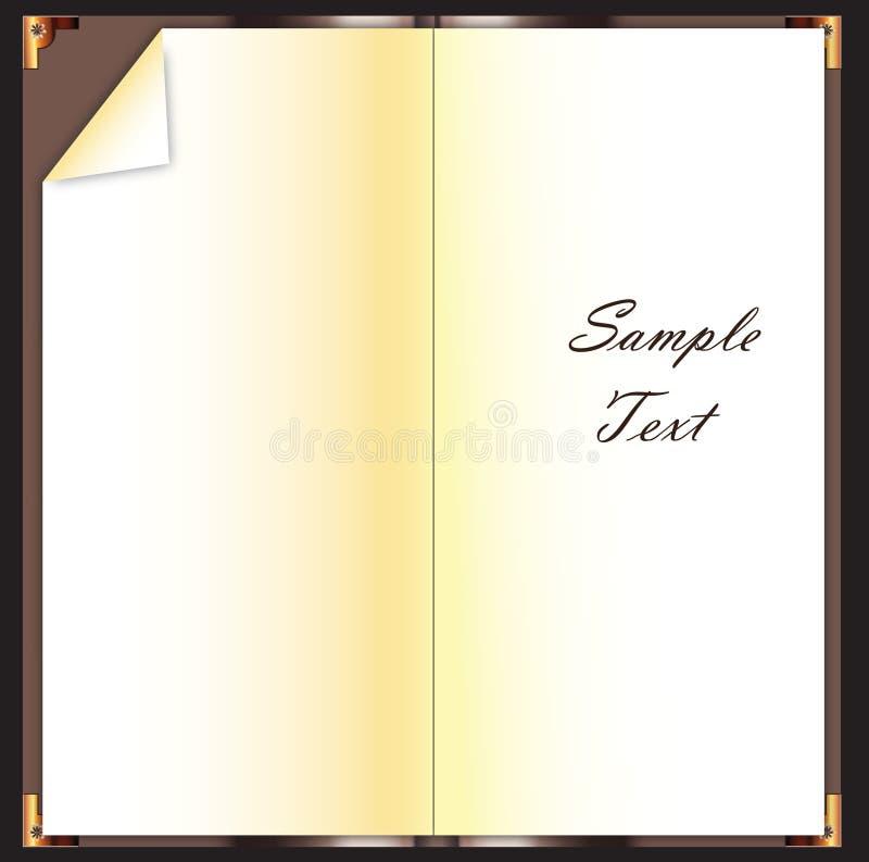 Livro em branco ilustração do vetor