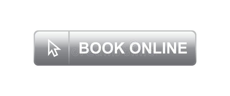 Livro em linha ilustração stock