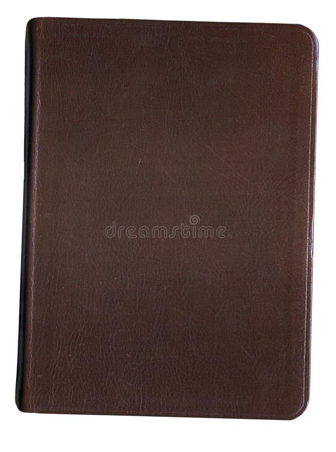 Livro encadernado de couro imagens de stock
