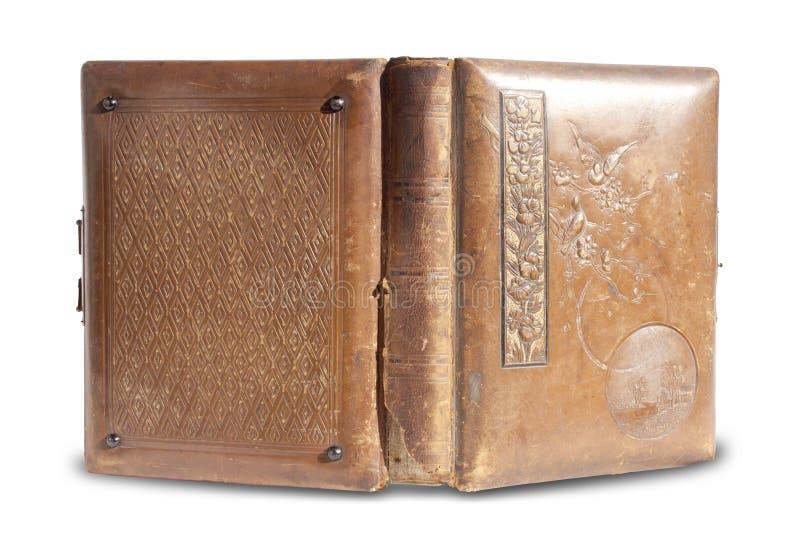Livro encadernado de couro antigo imagem de stock royalty free