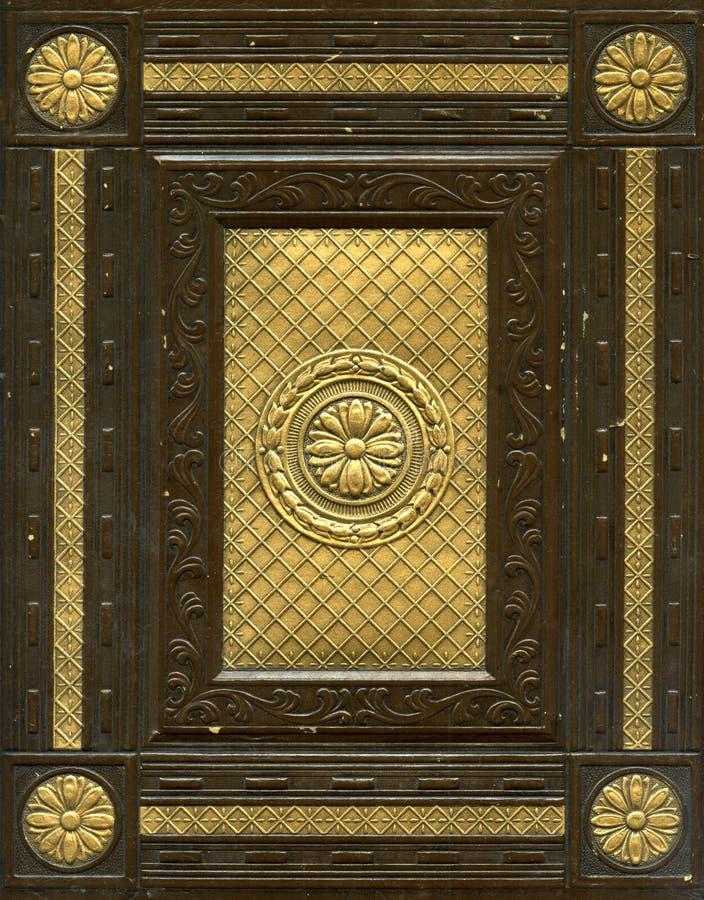 Livro encadernado de couro velho imagem de stock