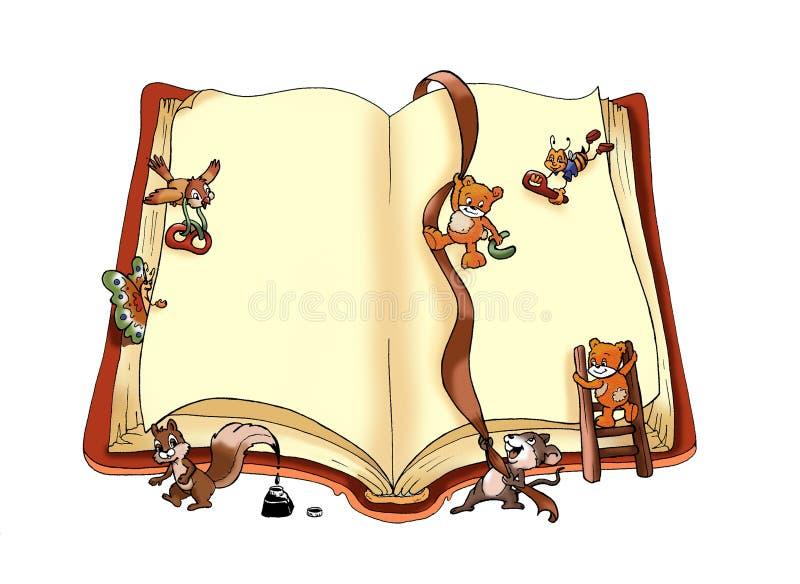 Livro feliz ilustração royalty free