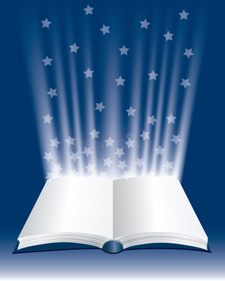 Livro grande das estrelas ilustração royalty free