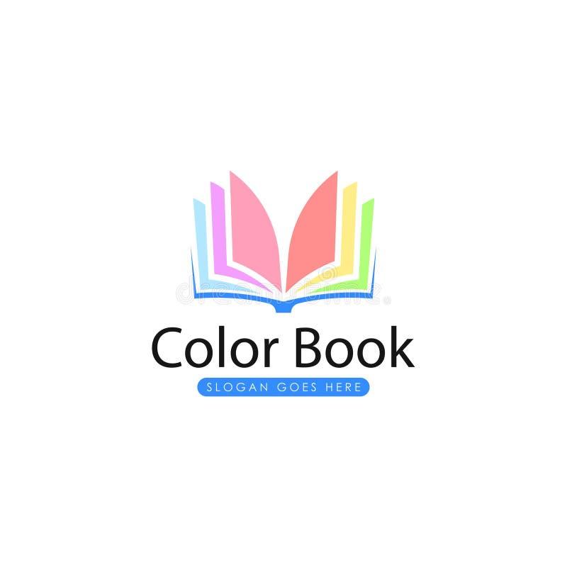 Livro Logo Template Livro Logo Vetora ilustração stock
