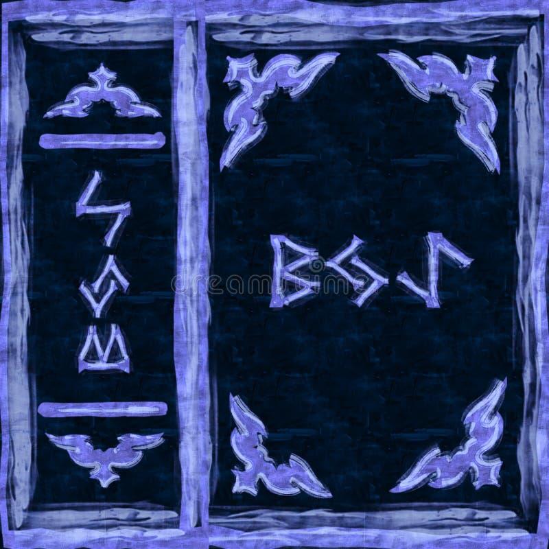 Livro mágico azul da tampa foto de stock