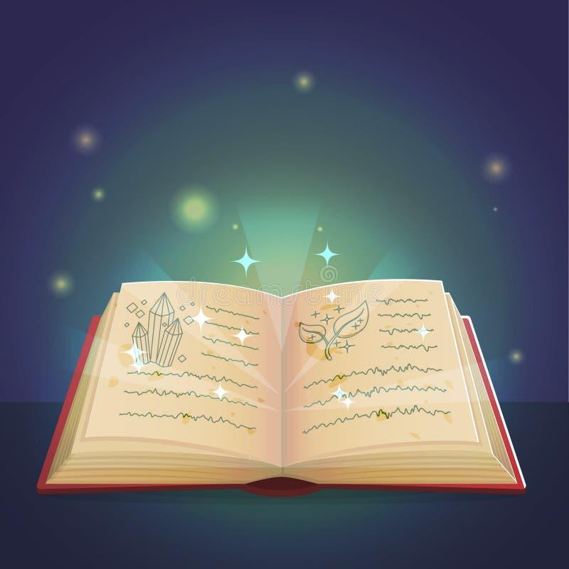 Livro mágico da ilustração das sombras ilustração do vetor