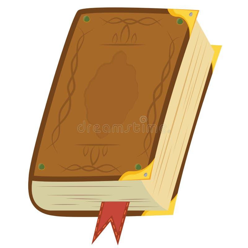 Livro mágico de couro ilustração stock