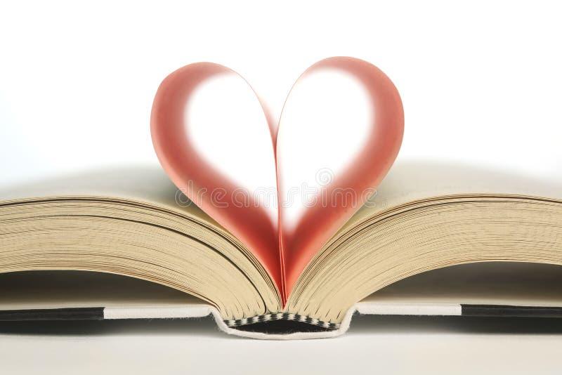 Livro na forma de um coração foto de stock royalty free