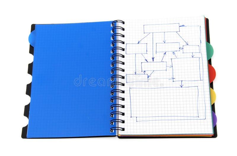Livro no fundo branco imagens de stock