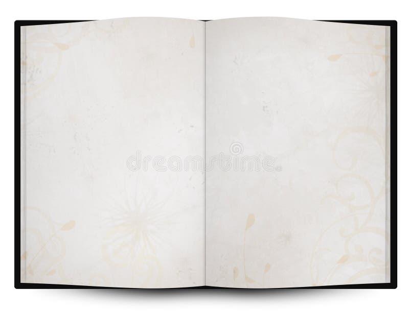 livro ou menu aberto com textura do fundo do grunge ilustração do vetor