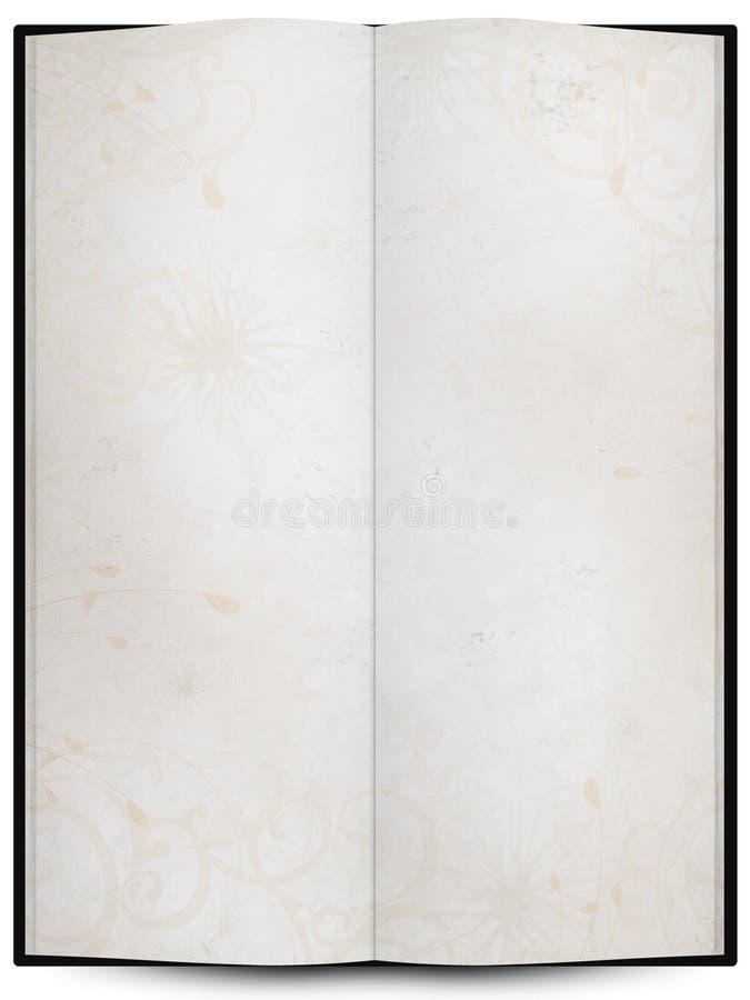 livro ou menu aberto com textura do fundo do grunge foto de stock