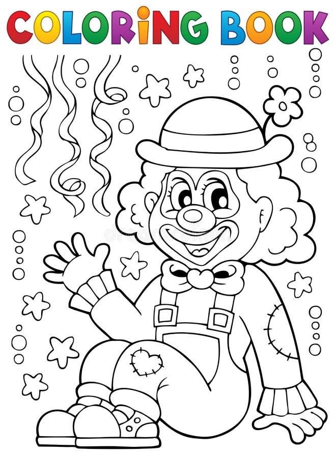 Livro para colorir com palhaço alegre 4 ilustração do vetor
