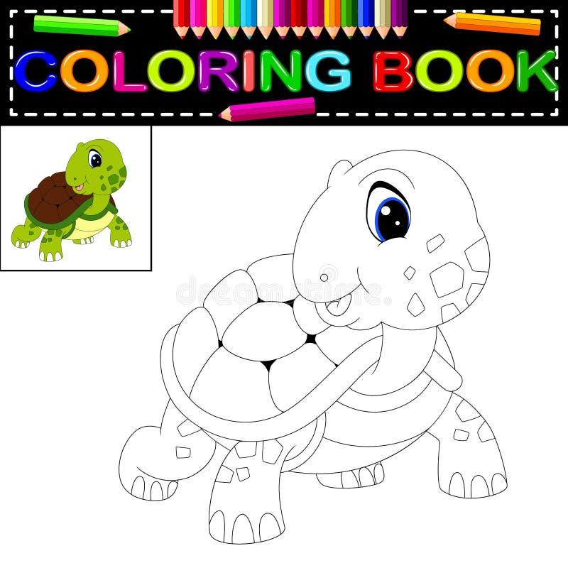 Livro para colorir da tartaruga ilustração royalty free
