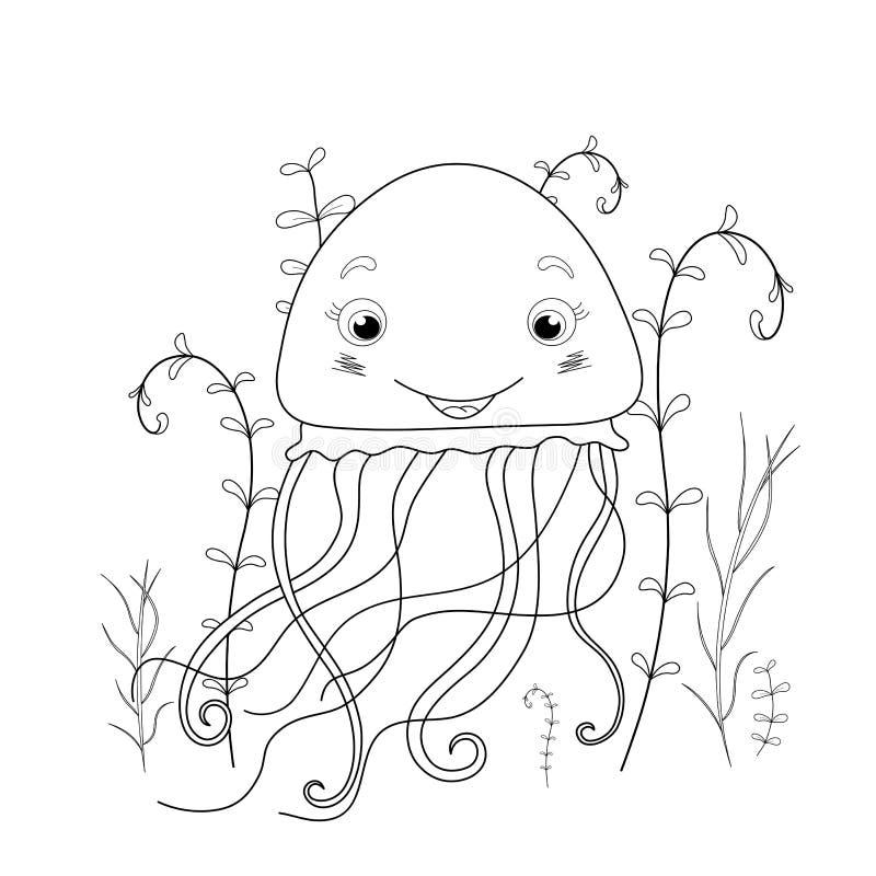 Desenhos Animados Do Polvo Do Livro Para Colorir Educacionais