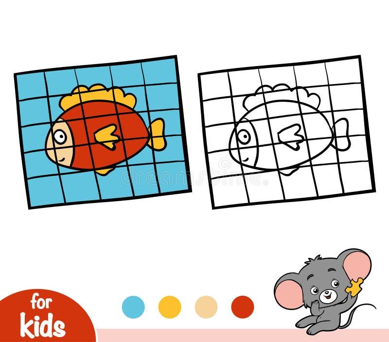 livro para colorir enigma de serra de vaivém ilustração do vetor