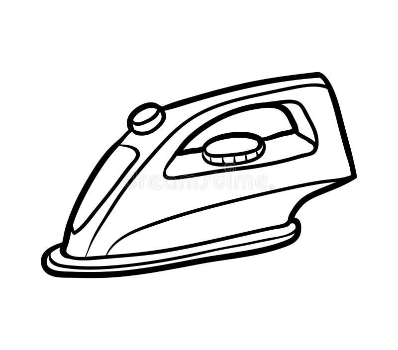 Livro para colorir, ferro ilustração stock