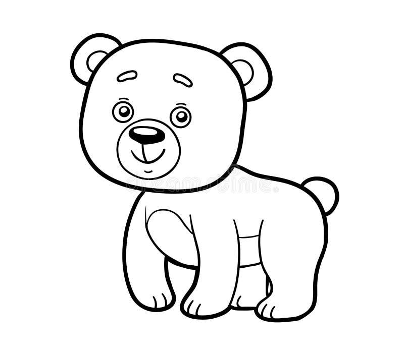 Livro Para Colorir Pagina Colorindo Urso Ilustracao Do Vetor