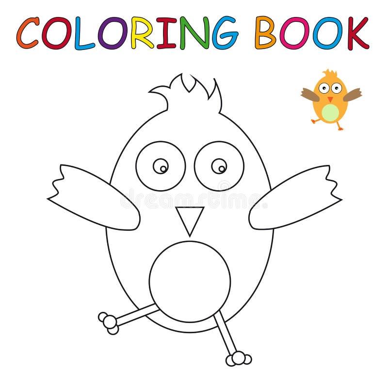 Livro para colorir - pássaro ilustração stock