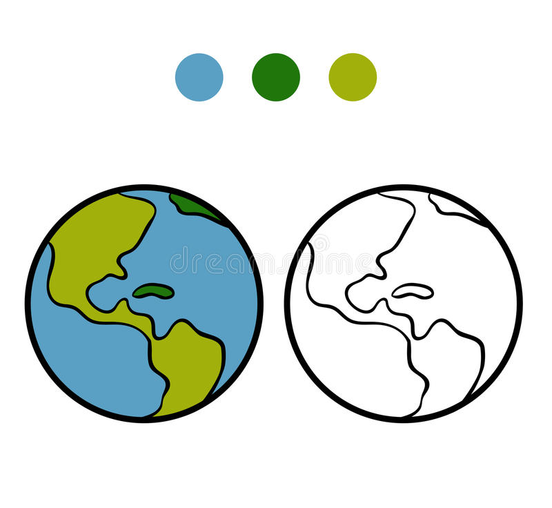 Livro Para Colorir Terra Ilustracao Do Vetor Ilustracao De Livro
