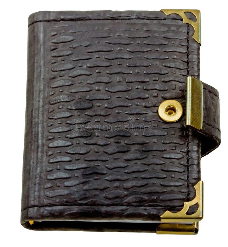Livro preto do memorando de Brown isolado no branco imagens de stock royalty free