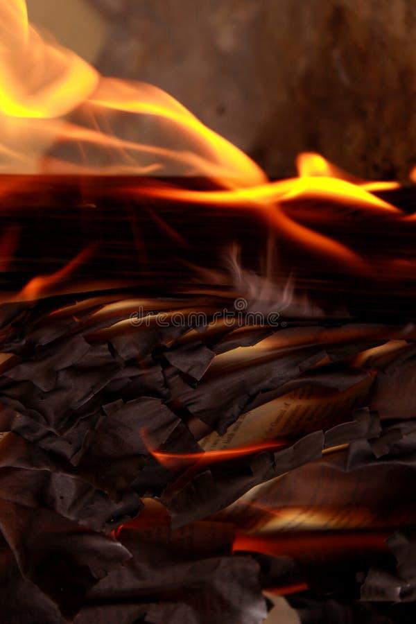 Livro queimado imagem de stock