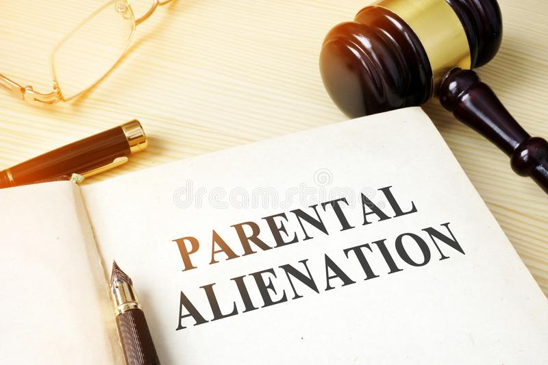 Livro sobre o alienationon parental imagem de stock royalty free