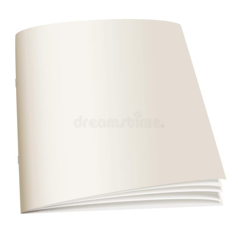 Livro traseiro do papel ilustração royalty free
