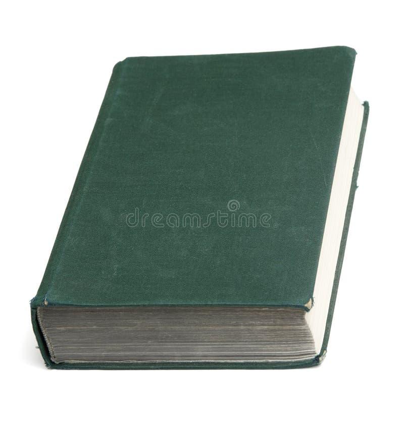 Livro velho com tampa desobstruída fotografia de stock