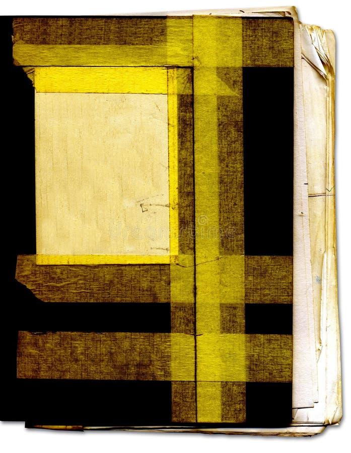 Livro velho com textura áspera da fita fotos de stock