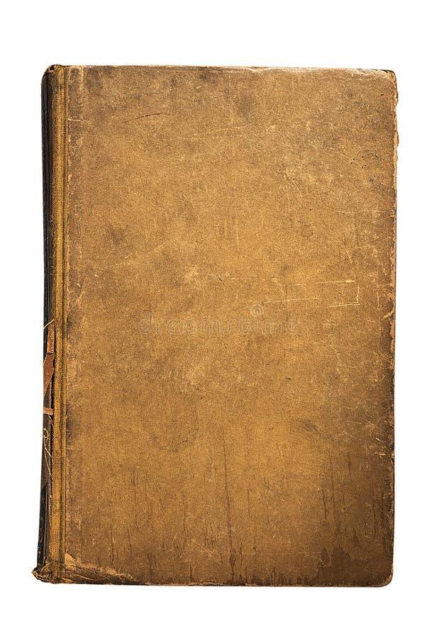 Livro velho de quatro vintages isolado no fundo branco Biblioteca velha foto de stock royalty free