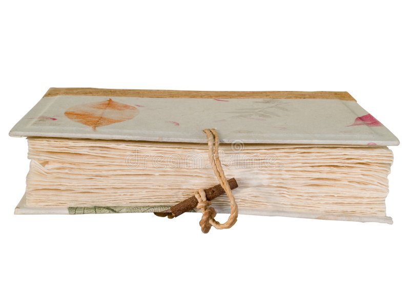 Livro velho do vintage com fecho de madeira imagem de stock