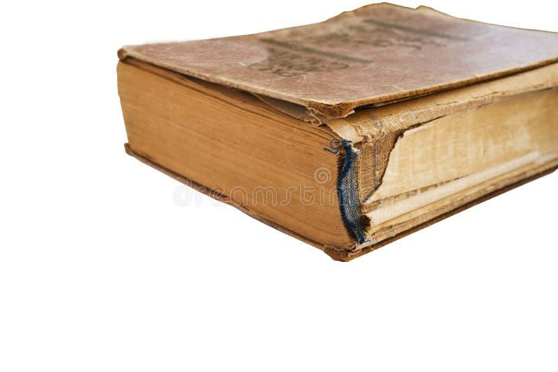 Livro velho isolado no fundo branco fotografia de stock