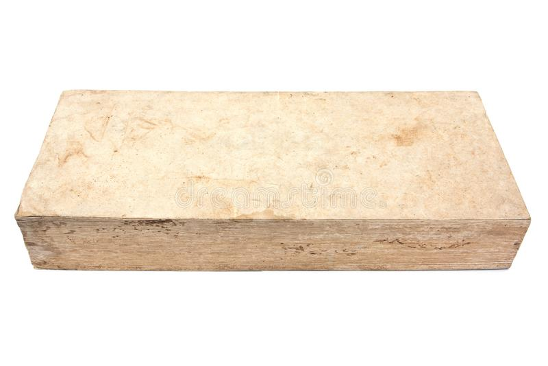 Livro velho natural isolado no fundo branco foto de stock