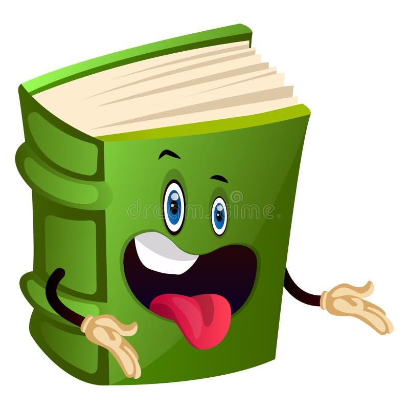 Livro verde sendo bobo, ilustração, vetor ilustração royalty free