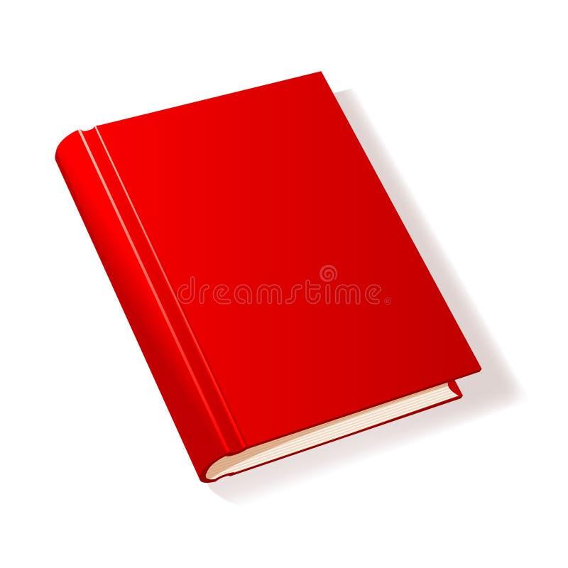 Livro vermelho ilustração royalty free