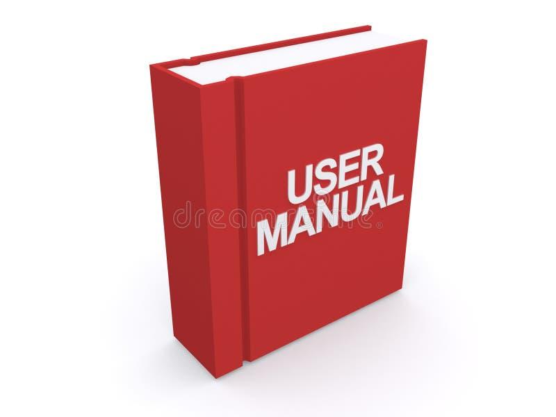 Livro vermelho do manual do usuário ilustração stock