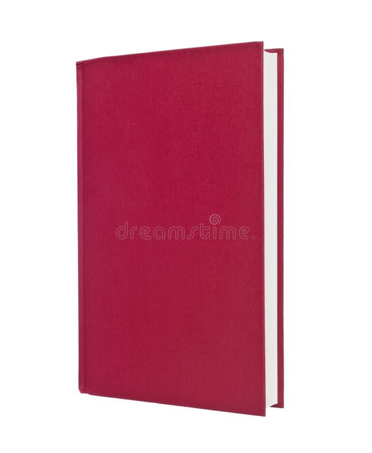 Livro vermelho em branco imagens de stock