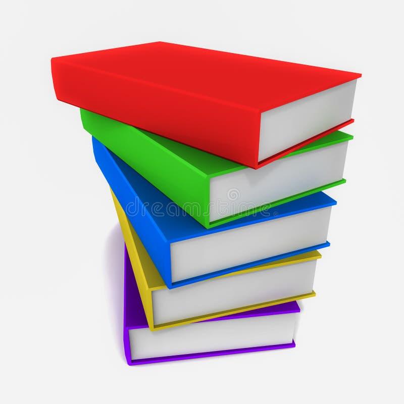 Livros ilustração stock