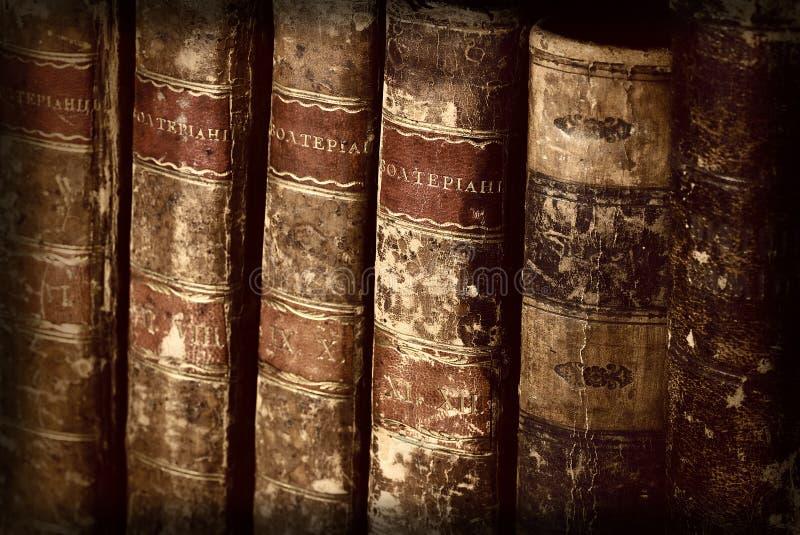 Livros antigos fotografia de stock royalty free