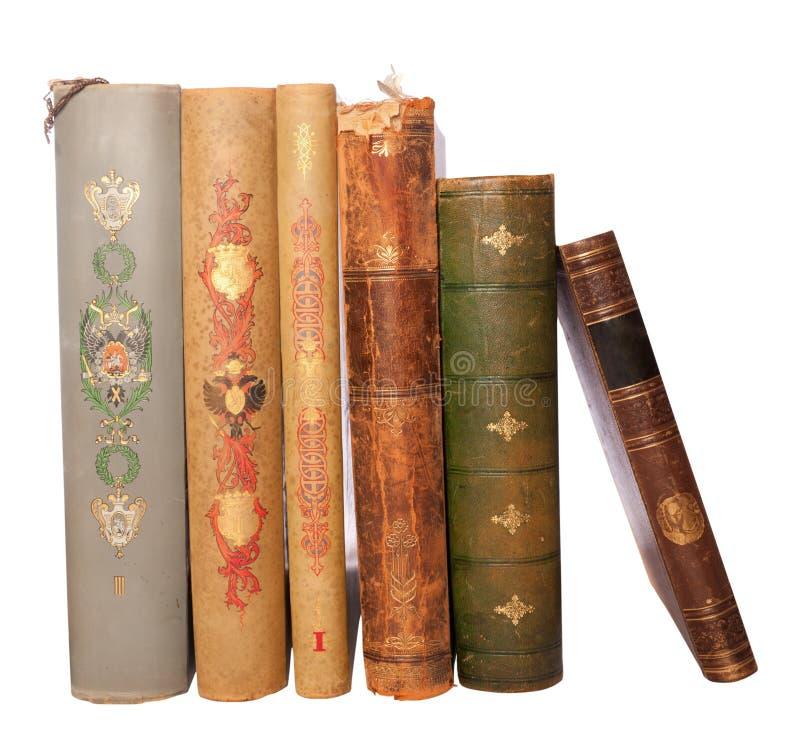 Livros antigos da pilha fotografia de stock royalty free