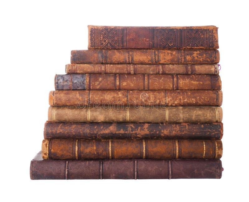 Livros antigos da pilha imagem de stock royalty free